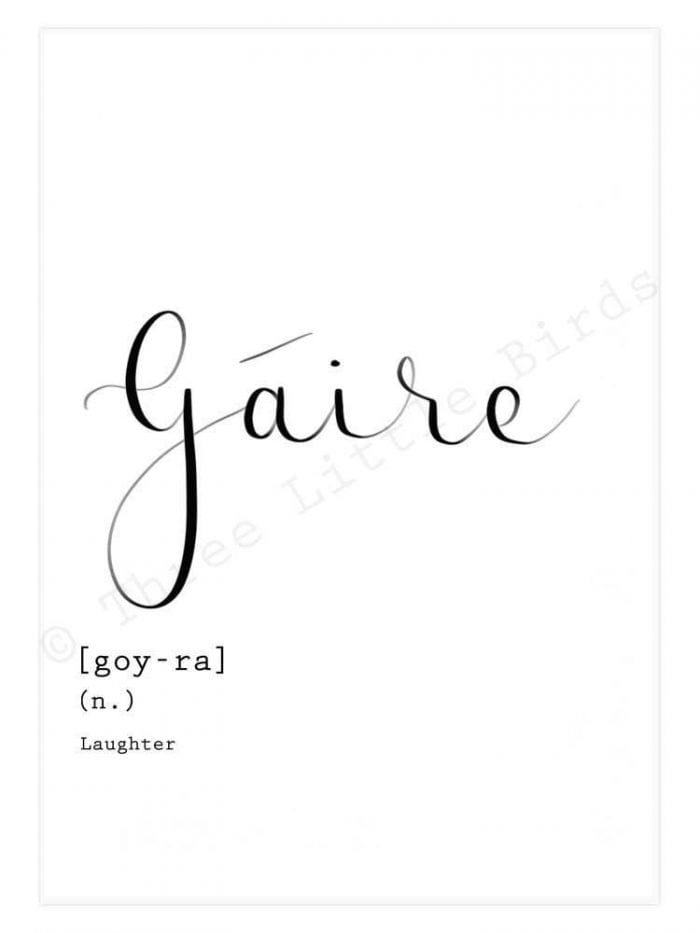 gaire_the_Irish_word_for_Laughter_a_calligraphy_art_A4_print