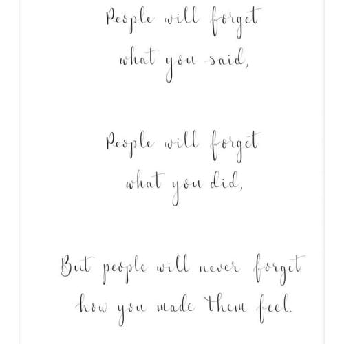 people_will_never_forget_quoation_from_Maya_Angelou_calligraphy_art_print_a4_unframed