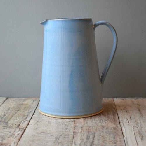 Large blue pottery jug