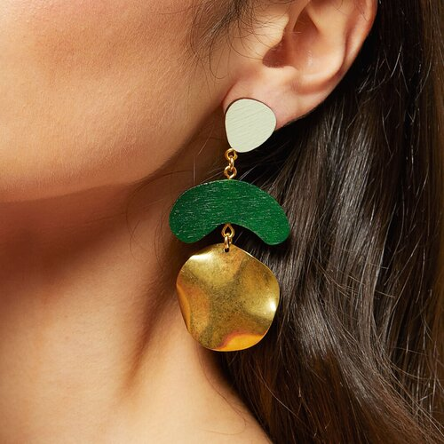 jade and sage green drop earrings