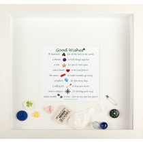 3d wall art piece with Good Wishes poem