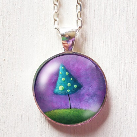 blue_tree_on_purple_background_pendant