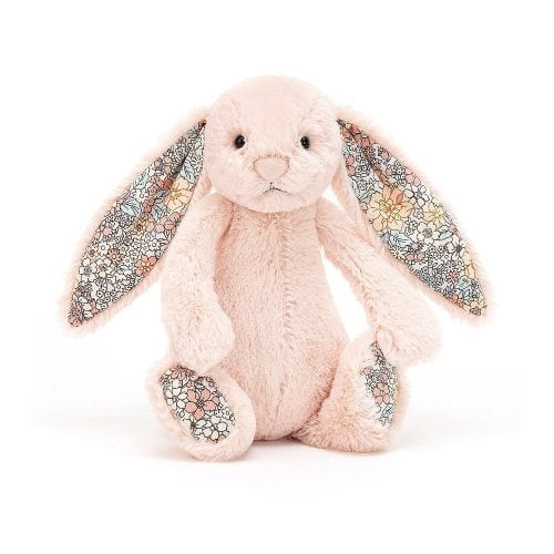 blush coloured soft toy rabbit