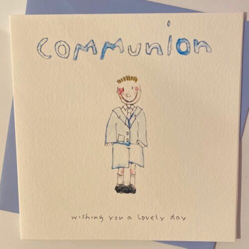 Boy Communion Card with Message Wishing you a lovely day