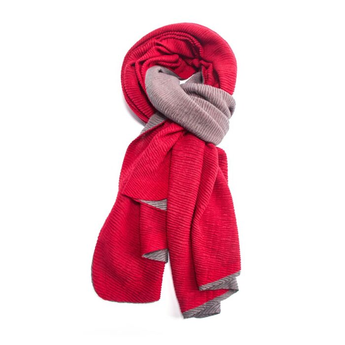 Red & Grey Reversible Scarf