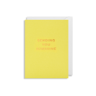 inspirational card with message Sending You SUnshine