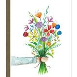 card with illustration of bouquet of flowers