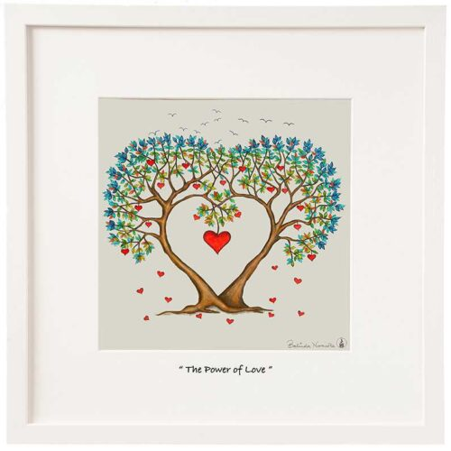 illustration with message The Power of Love