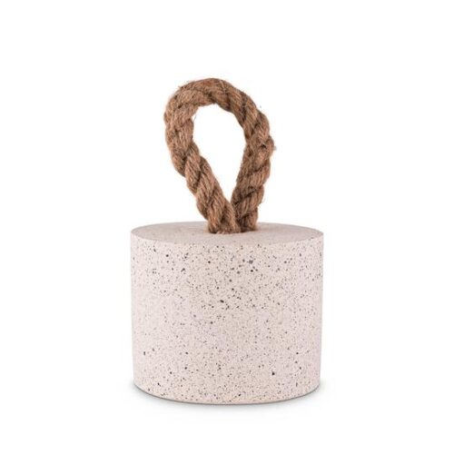 Concrete Door Stop with Sisal Rope To Pick Up